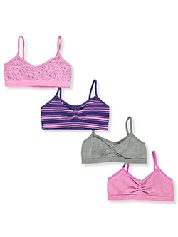 Girls' 4-Pack Seamless Sports Bras by Totally Tween in Multi, Girls Fashion