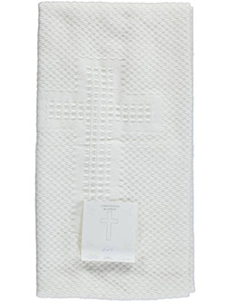 Baby Christening Blanket by Famous Brand in White - Blankets