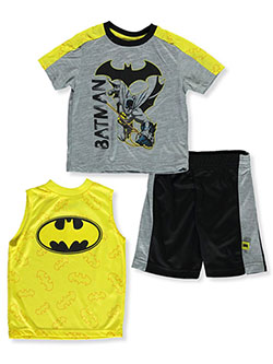 Boys' 3-Piece Shorts Set Outfit by Batman in Space dye, Sizes 4-7