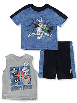 3-Piece Bugs Bunny Shorts Set Outfit by Looney Tunes in Navy/multi