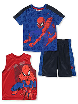 Boys' 3-Piece Shorts Set Outfit by Spider-Man in Royal blue multi, Boys Fashion