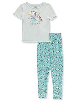 Girls' Unicorn 2-Piece Pajamas by Rene Rofe in Multi