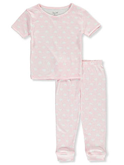 Girls' Hearts 2-Piece Pajamas by Rene Rofe in Multi
