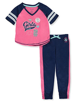 Girls' Varsity Squad 2-Piece Pajamas by Rene Rofe in Multi
