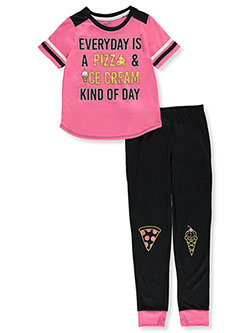 Pizza and Ice Cream 2-Piece Pajamas by Rene Rofe in Multi