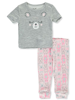 Baby Girls' Happy Bear 2-Piece Pajamas by Rene Rofe in Multi