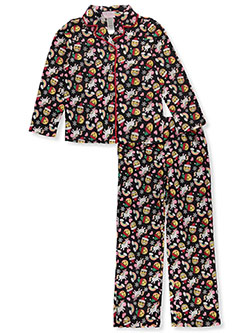 Girls' Holiday Emoji 2-Piece Pajamas by Rene Rofe in Multi