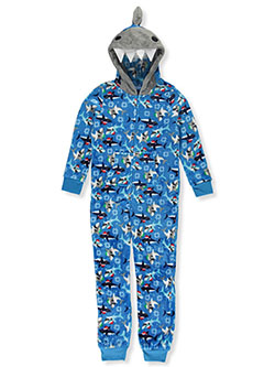 Boys' Monster Hooded 1-Piece Pajama Suit by Only Boys in Multi