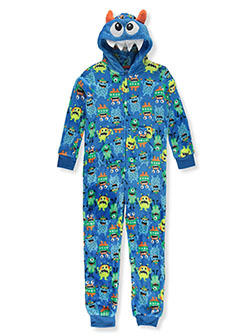 Boys' Shark Hooded 1-Piece Pajama Suit by Only Boys in Multi