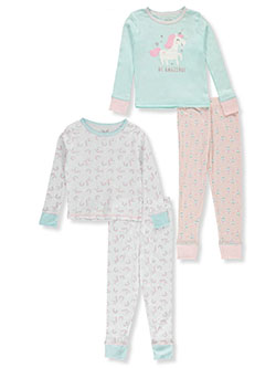 Girls' Unicorn Amazing 2-Pack Pajamas by Rene Rofe in Multi