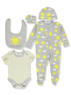 Unisex Baby Sunshine 6-Piece Layette Set by Lily & Jack in Multi, Infants