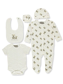 Rock-a-Bye Teddy Bears 6-Piece Layette Set by Rock-a-Bye Baby in Multi, Infants