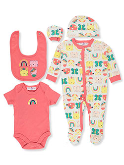 Rainbow Unicorn 6-Piece Layette Set by Lily & Jack in Multi