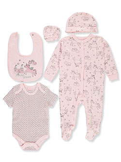 Rock-a-Bye Princess Unicorn 6-Piece Layette Set by Rock-a-Bye Baby in Multi, Infants