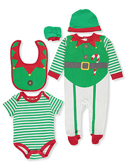 Unisex Baby Holiday 6-Piece Layette Set by Lily & Jack in Multi