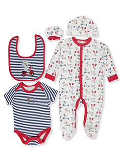 Scooter 6-Piece Layette Set by Bonjour Bebe in Multi, Infants