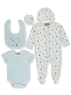 Rock-a-Bye Town 6-Piece Layette Set by Rock-a-Bye Baby in Multi, Infants