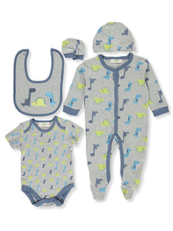 Dino Medley 6-Piece Layette Set by Lily & Jack in Multi, Infants