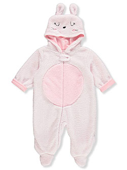 Baby Girls' Bunny Ears Pram Suit by Just Born in Pink - $19.99
