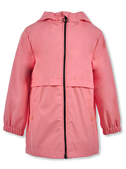 Panel Layer Hooded Rain Jacket by Urban Republic in Pink