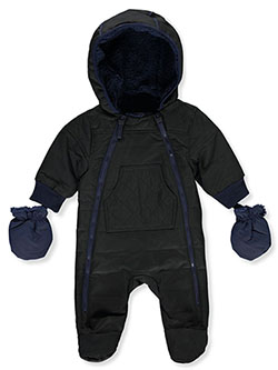 Dual Zip Insulated Pram Suit by Urban Republic in Black, Infants