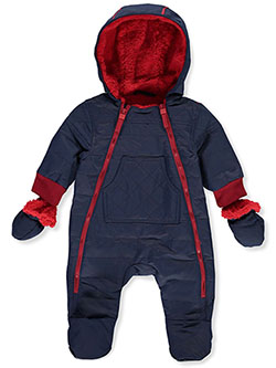 Dual Zip Insulated Pram Suit by Urban Republic in Navy, Infants