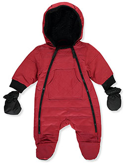 Dual Zip Insulated Pram Suit by Urban Republic in Red, Infants