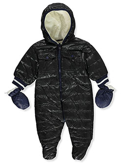 Center Zip Insulated Pram Suit by Urban Republic in Black - Snowsuits