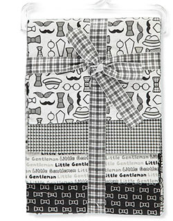 Baby Boys' 4-Pack Receiving Blankets by Zak & Zoey in Black/white