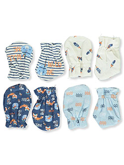 Baby Boys' Native Bear 4-Pack Mittens by Zak & Zoey in Navy/beige