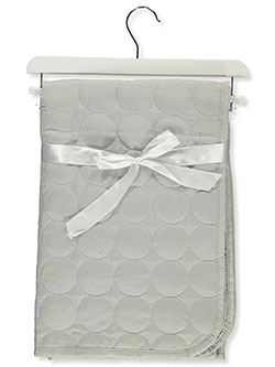 Circle Stitch Baby Comforter With Wooden Hanger by Stylish Baby in Gray, Infants