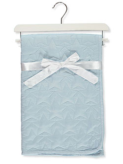 Star Stitch Baby Comforter With Wooden Hanger by Stylish Baby in Blue/multi