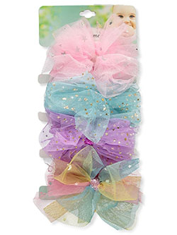 4-Pack Tulle Trim Baby Headbands by Baby Elements in Multi