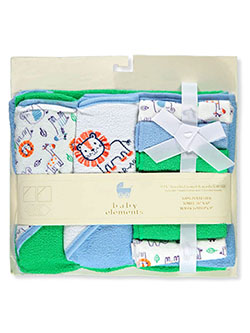 9-Piece Hooded Towel & Washcloth Set by Baby Elements in Multi