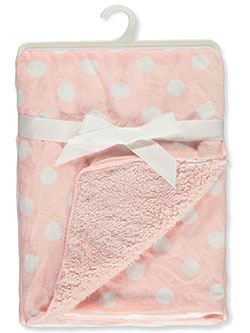 Polka Dotted Sherpa Baby Blanket by Stylish Baby