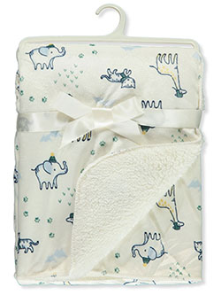 Elephants Sherpa Baby Blanket by Stylish Baby