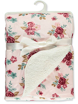 Roses Sherpa Baby Blanket by Stylish Baby