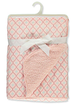 Flower Sherpa Baby Blanket by Stylish Baby