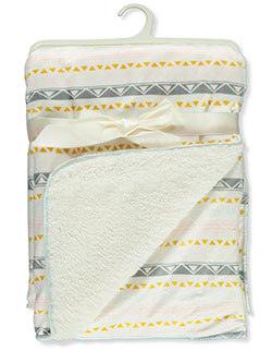 Geometric Pattern Sherpa Baby Blanket by Stylish Baby