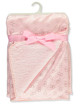 Sparkling Hearts Sherpa Baby Blanket by Stylish Baby
