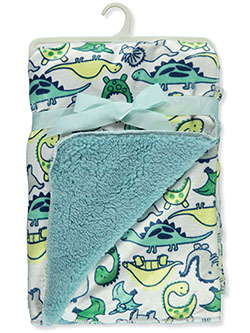 Dinosaurs Sherpa Baby Blanket by Stylish Baby