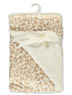 Leopard Print Sherpa Baby Blanket by Stylish Baby