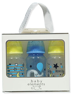 Baby Elements 3-Pack 11 Oz. Baby Bottles by JCV Group in Fuchsia