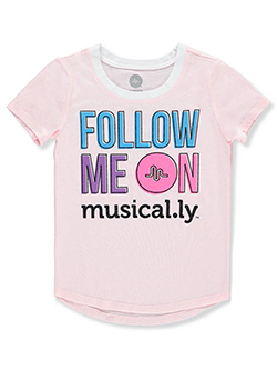 Girls' T-Shirt by Musical.ly in Light pink, Girls Fashion