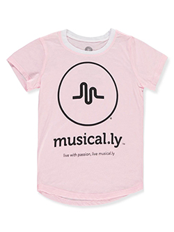 Girls' T-Shirt by Musical.ly in Pink, Girls Fashion