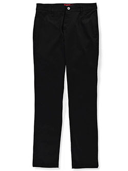 Girls' Skinny Twill Pants by Dickies in black, charcoal gray, khaki and navy - $24.99