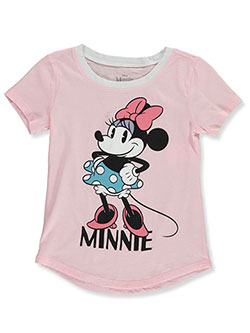 Minnie Mouse Girls' Vintage Pose T-Shirt by Disney in Ice pink, Sizes 4-6X