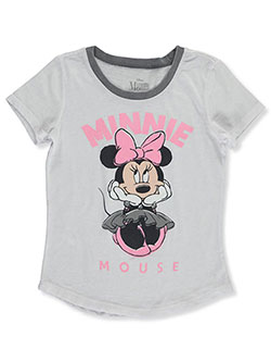 Minnie Mouse Girls' Heather Trim T-Shirt by Disney in Multi