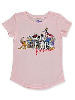Girls' Friends Forever T-Shirt by Disney in Pink, Sizes 4-6X