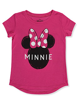 Minnie Mouse Double-Sided Character T-Shirt by Disney in Fuchsia